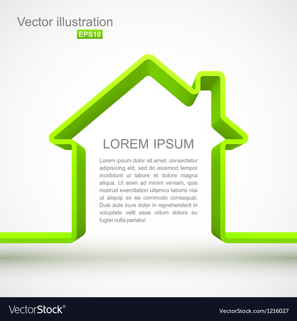 Green house outline vector image