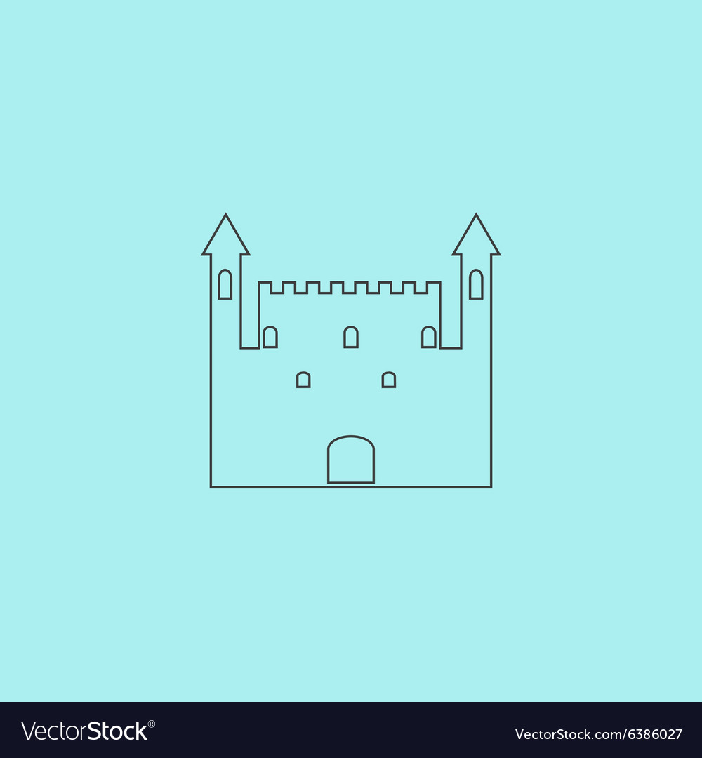 Castle Icon Royalty Free Vector Image - VectorStock