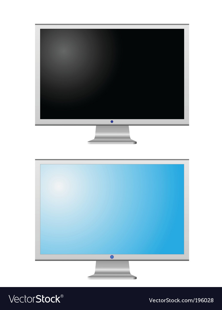 Lcd monitors vector image
