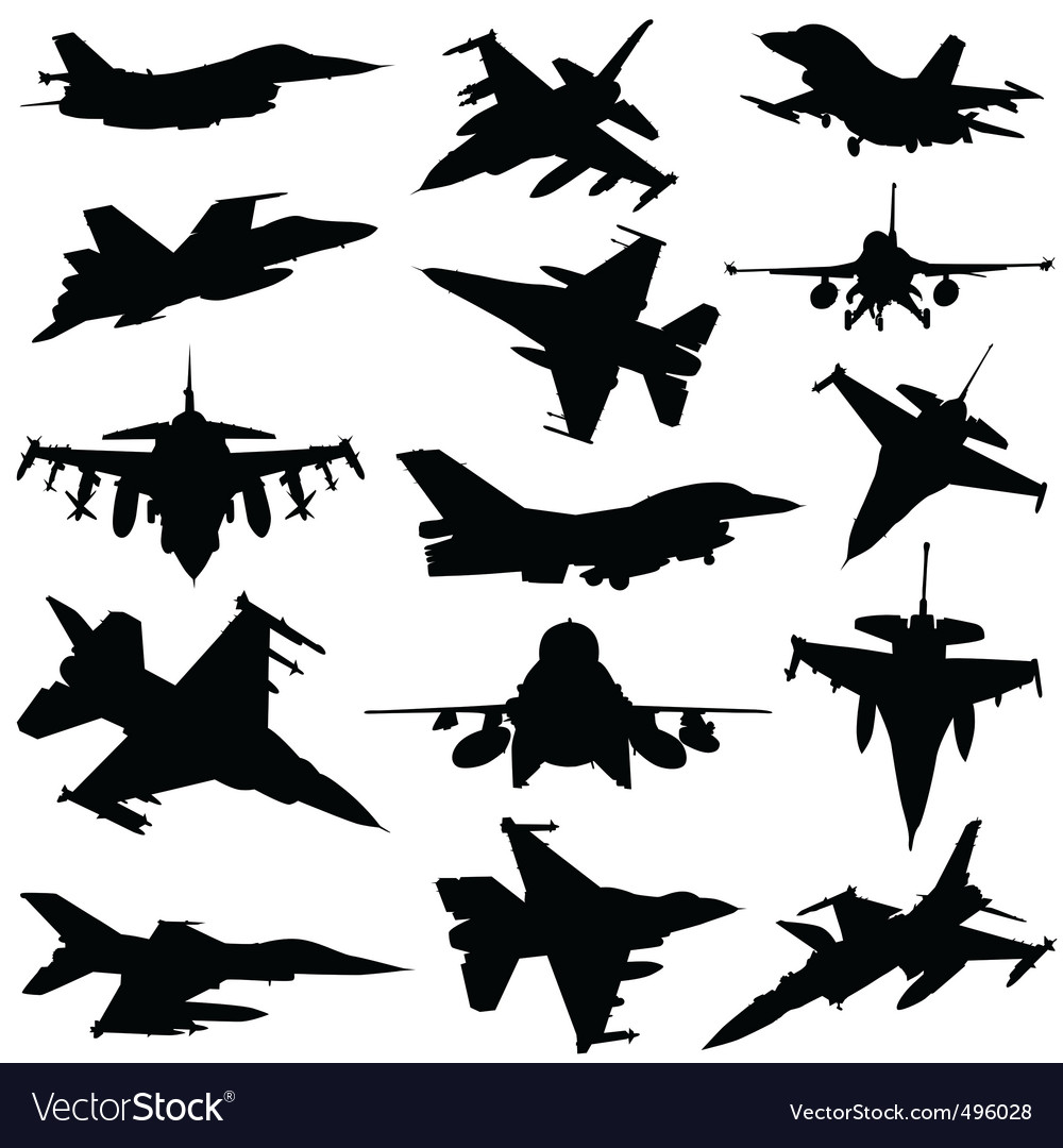 Military plane vector image