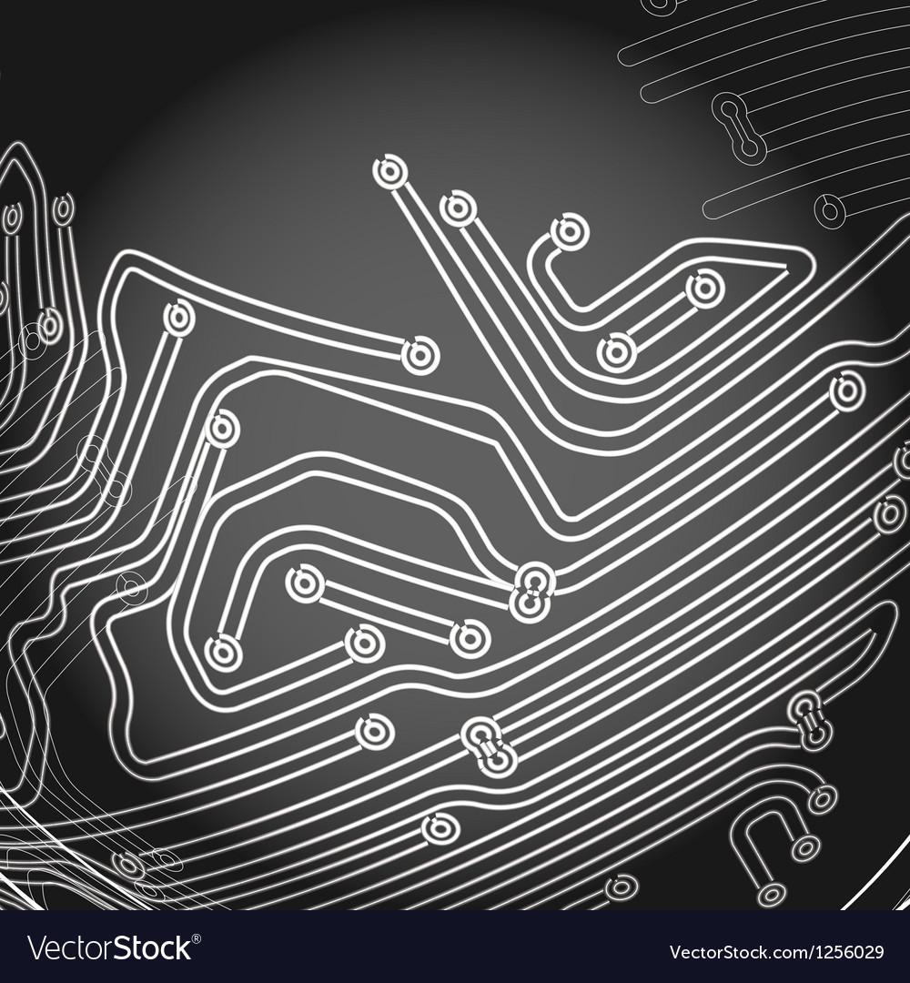 Abstract metro scheme vector image