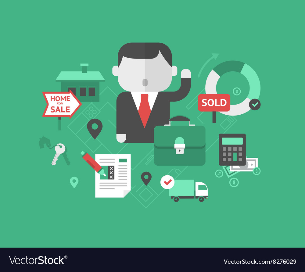Real Estate Selling Business vector image