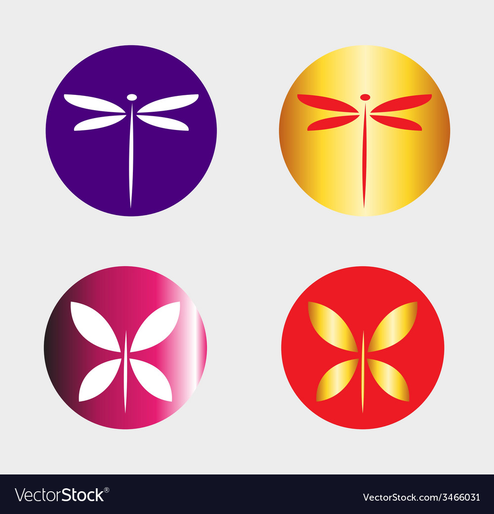 Dragonfly logo and butterfly symbol insect logo ve dragonfly logo and butterfly symbol insect logo ve vector image biocorpaavc