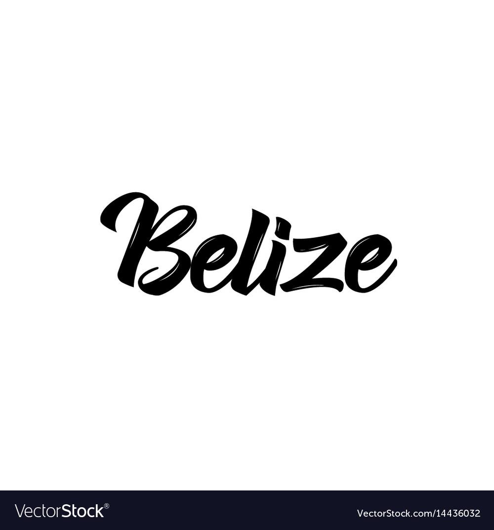 Belize text design calligraphy vector image