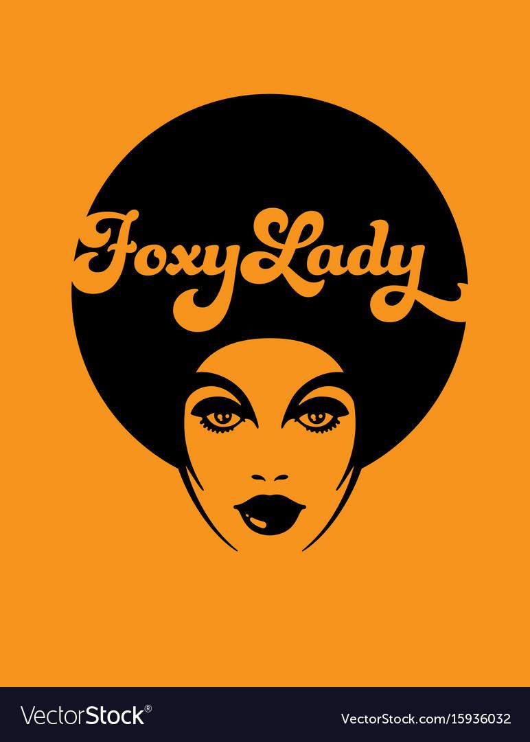 Foxy lady retro vector image