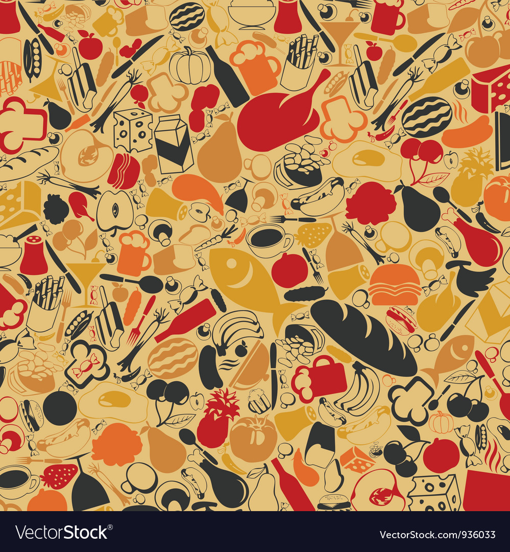 Food a background vector image