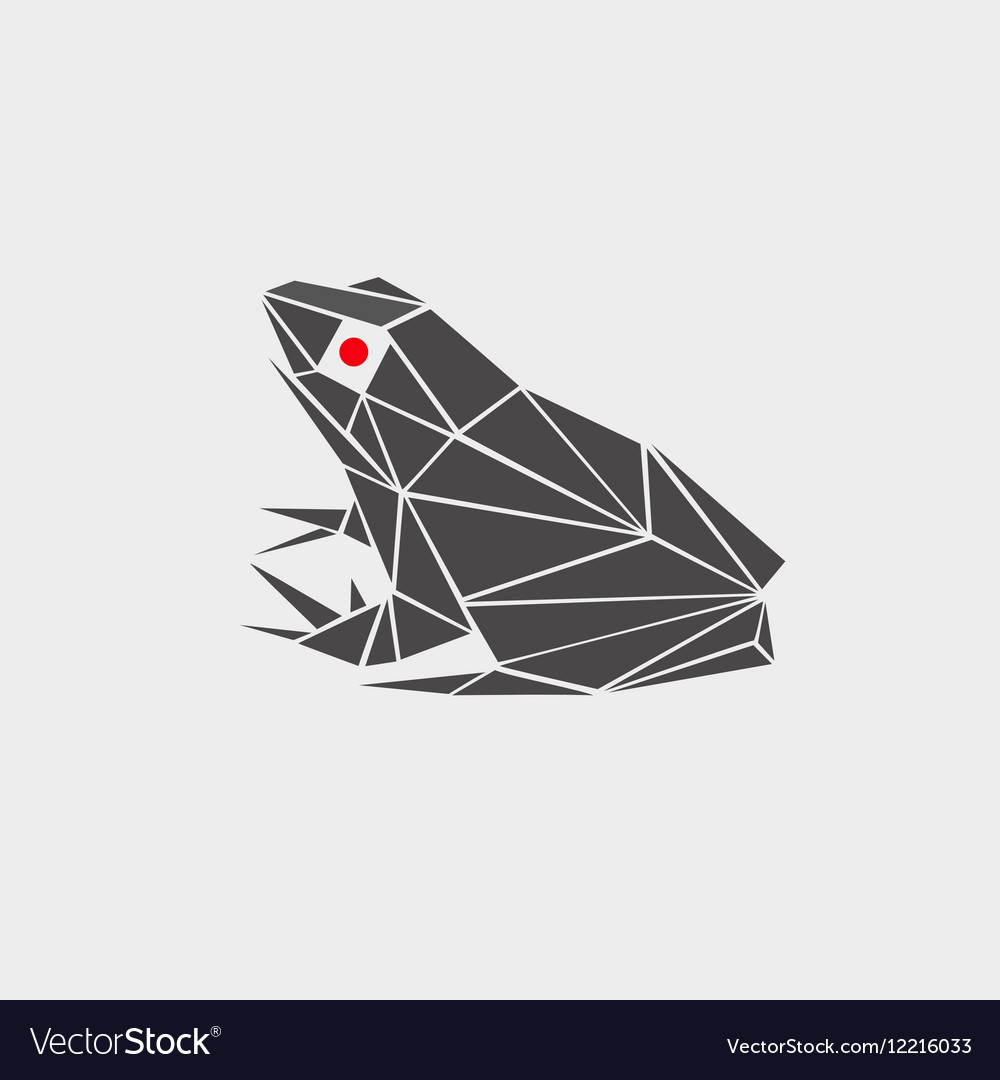 Stylized of a frog toad vector image
