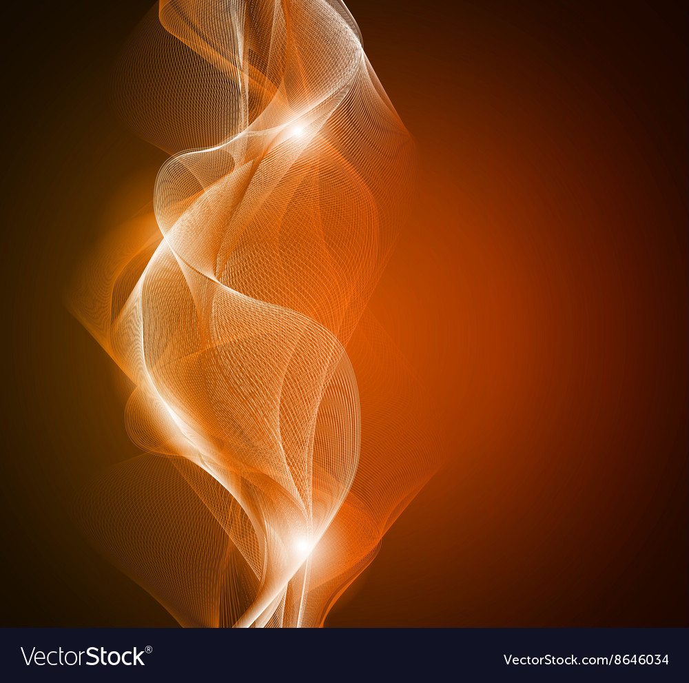 Abstract glowing light waves with random pattern vector image
