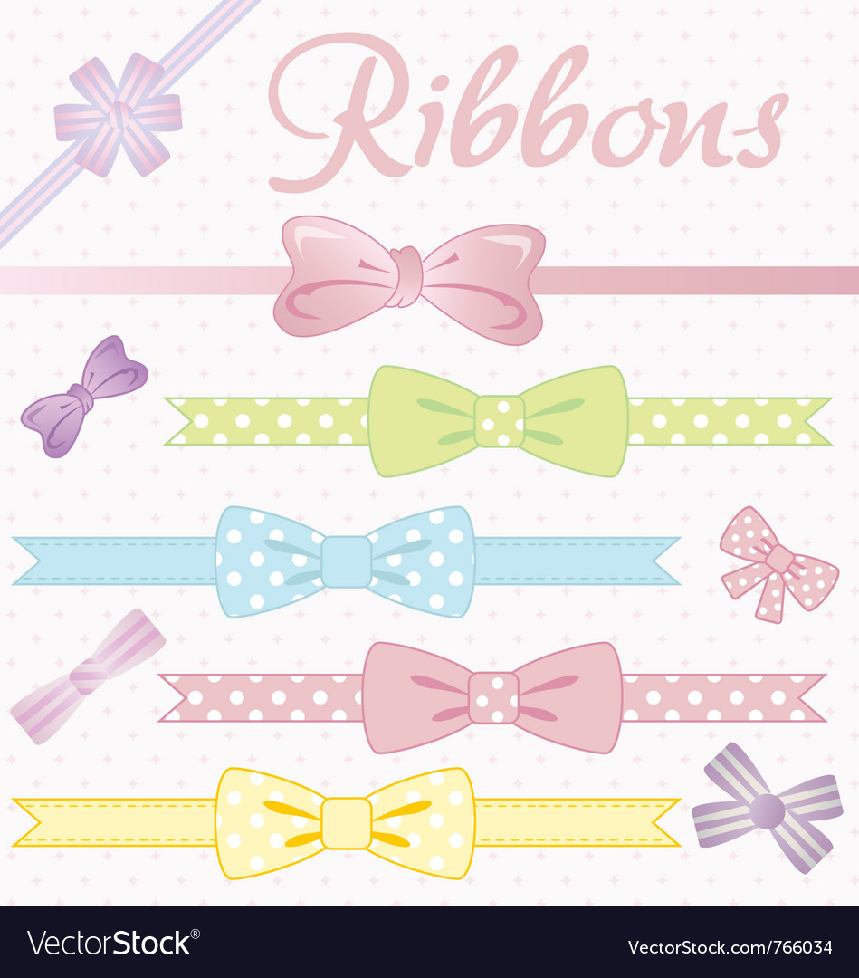 Ribbons converted vector image