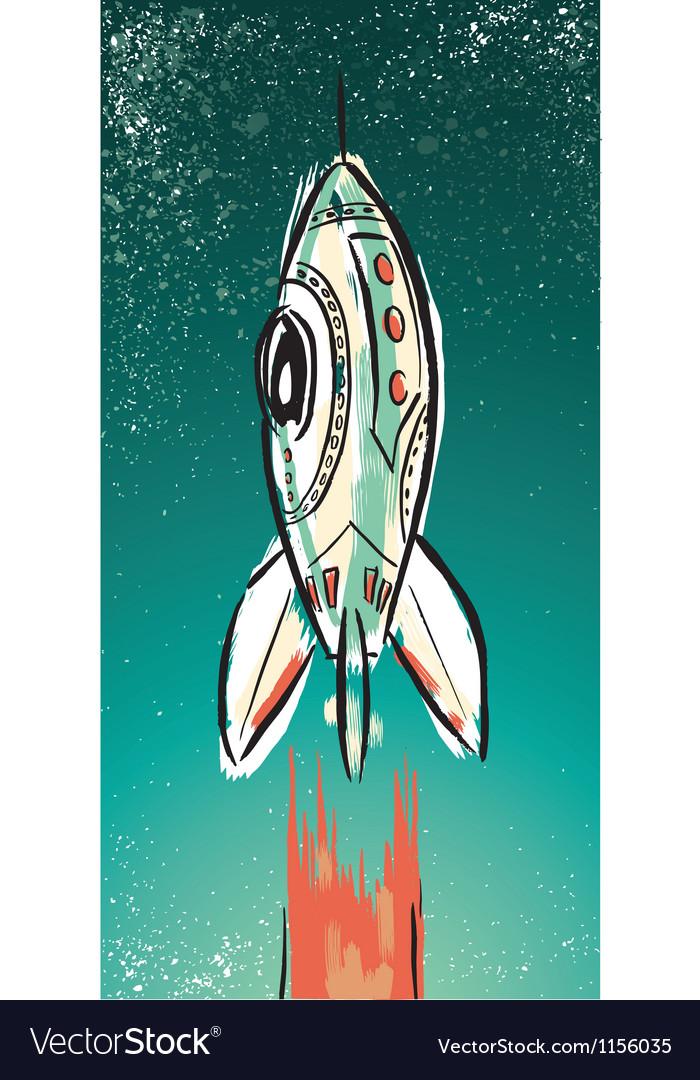 Rocket Ship Vector Image