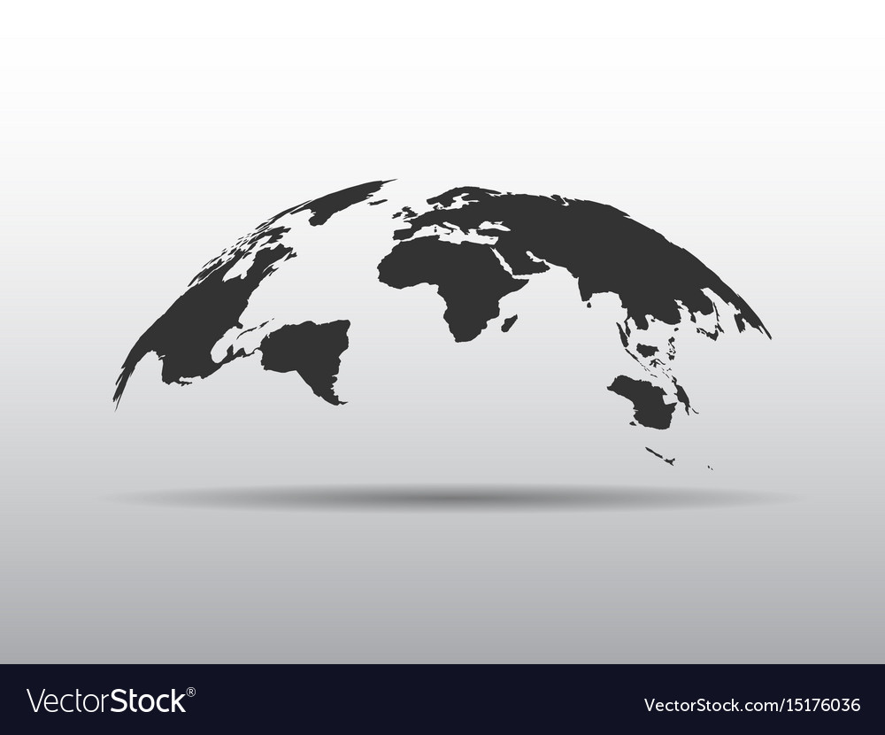 World map bulging in a shape of globe abstract vector image gumiabroncs Image collections