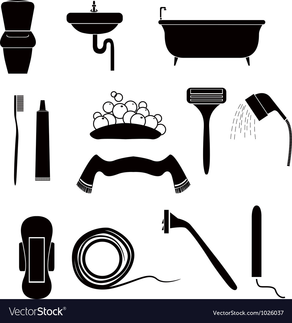 Icons of personal care vector image