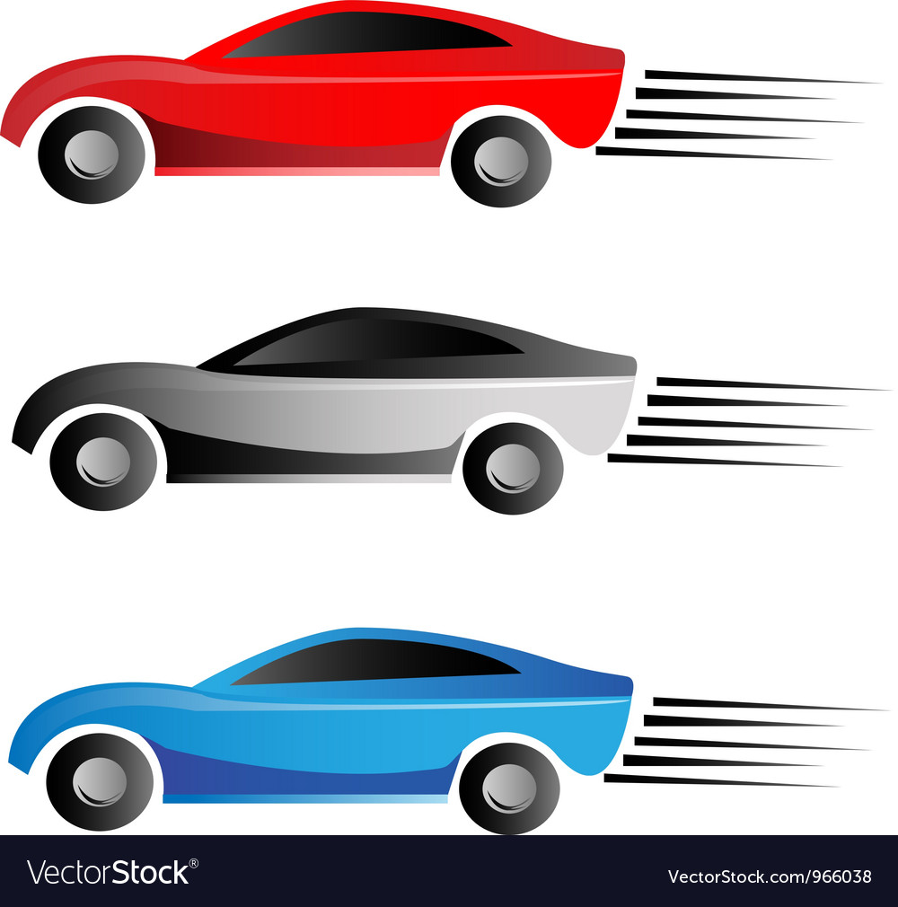 Racing cars vector image