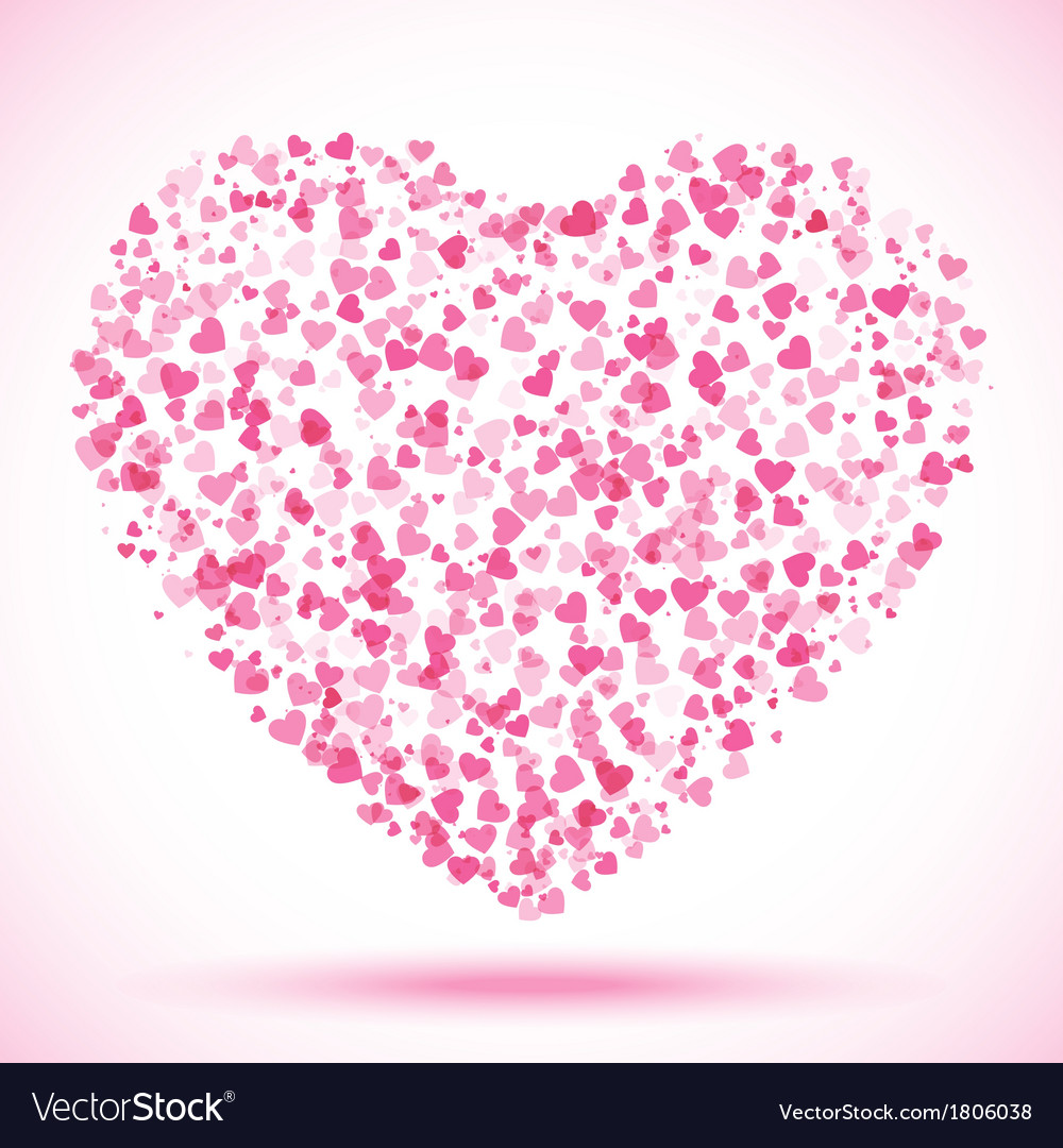spot of many hearts valentines day royalty free vector image