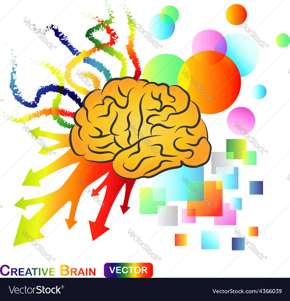 Creative Abstract Brain vector image