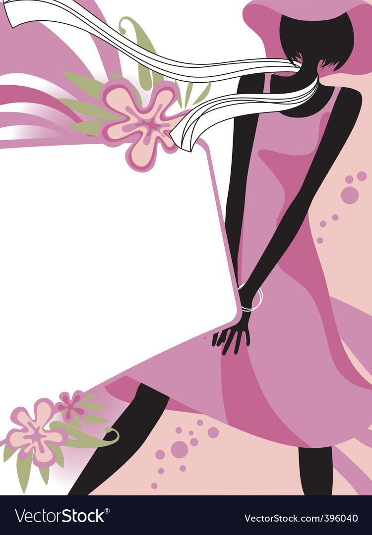 Fashion page vector image