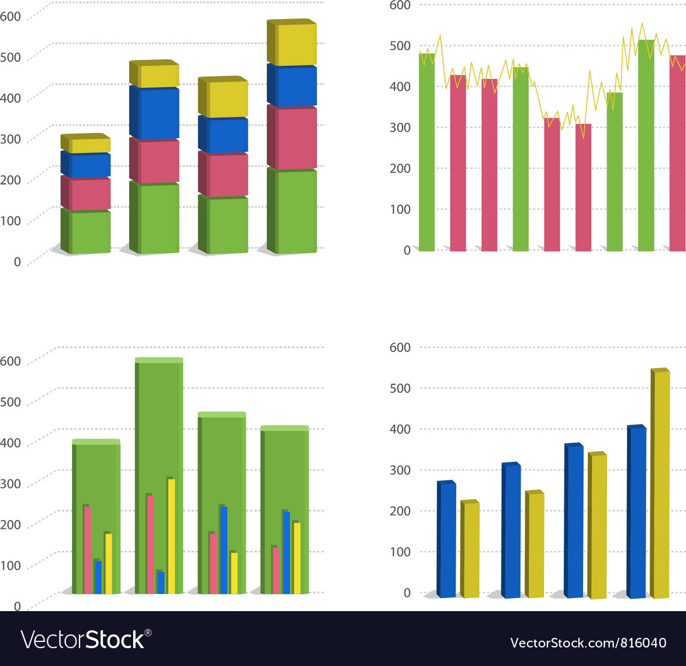 Bar chart graph vector image