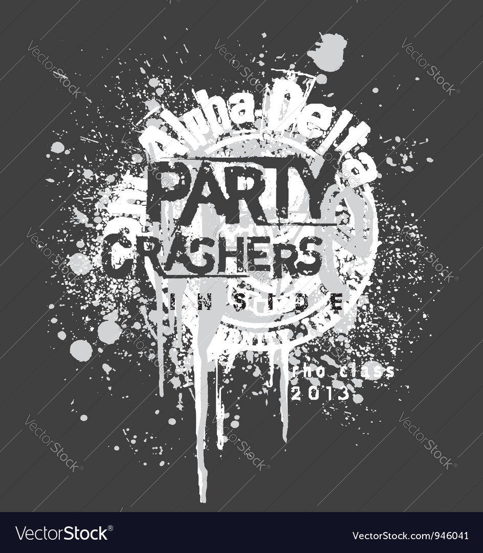 Delta party crash vector image
