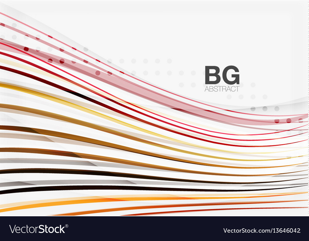 Modern wave lines elegant wave abstract vector image