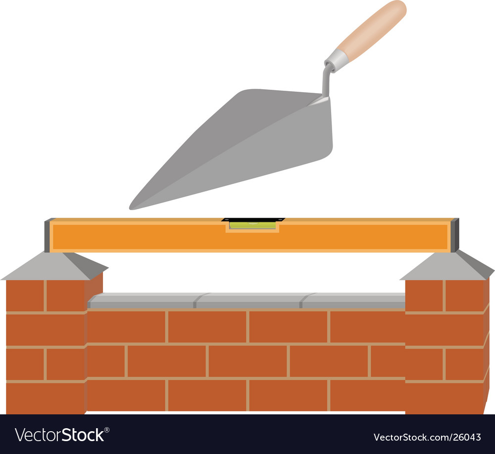 Build a wall vector image