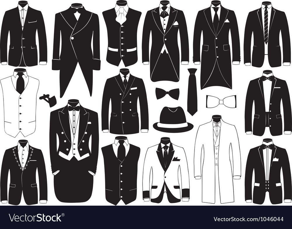 Suits set vector image