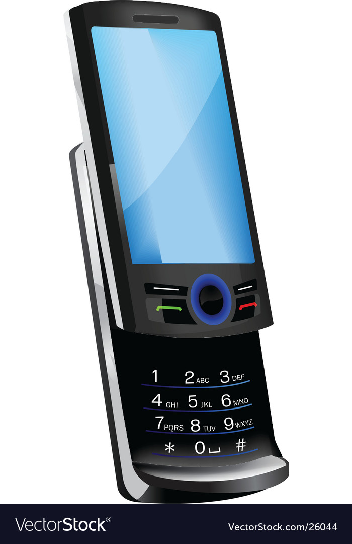 Slider cell phone vector image