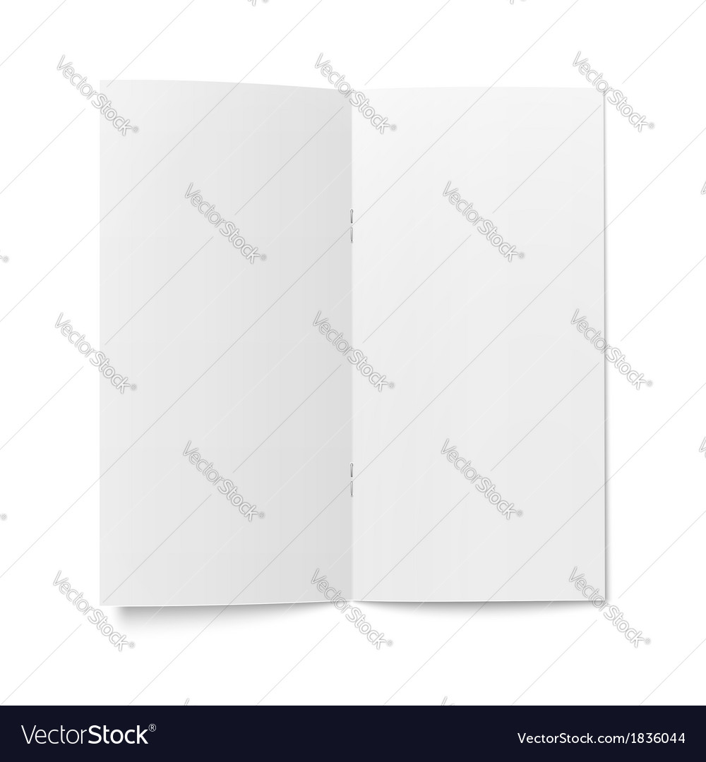 Booklet template on white background vector image