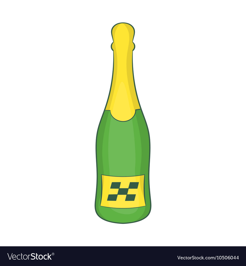 Bottle of champagne icon cartoon style vector image