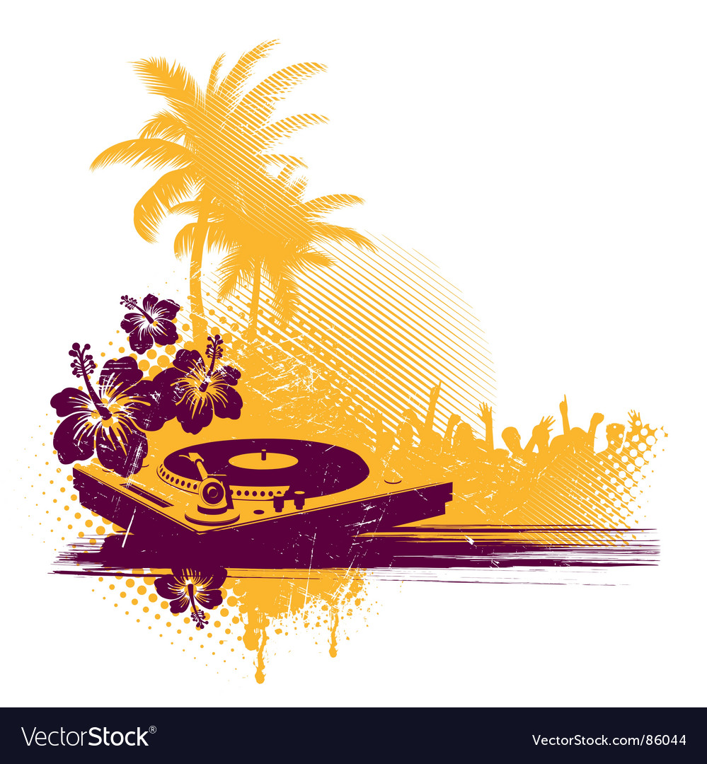 Tropical disco vector image