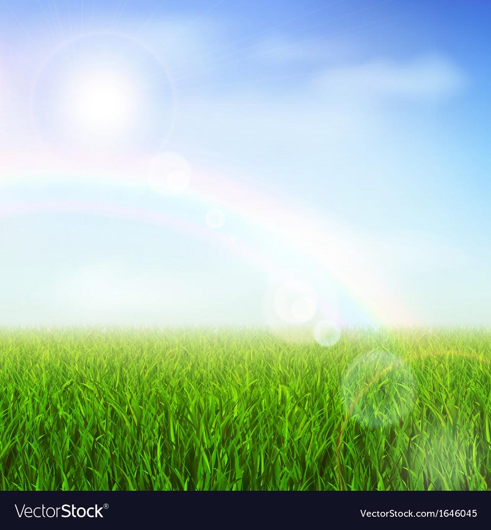 Green field vector image