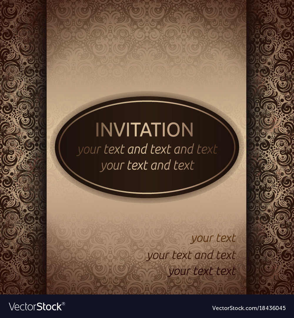 Invitation card template in old style royalty free vector invitation card template in old style vector image stopboris Choice Image