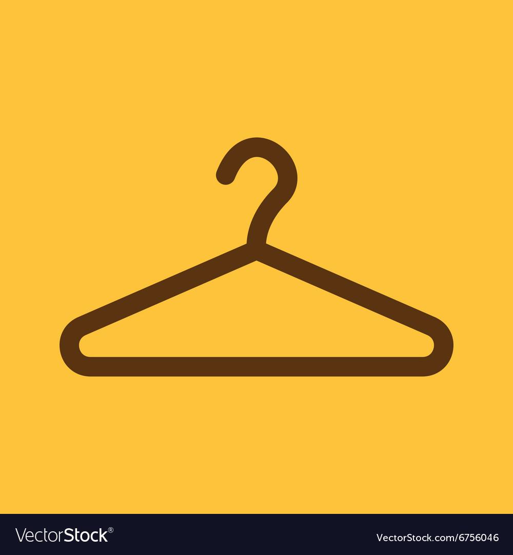 The hanger icon coat rack symbol flat royalty free vector the hanger icon coat rack symbol flat vector image buycottarizona