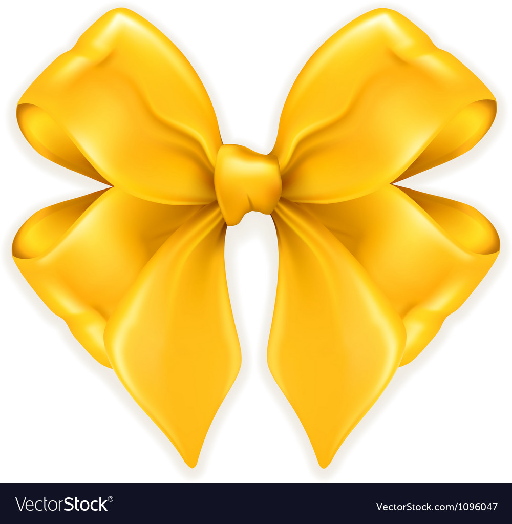 Bow golden vector image