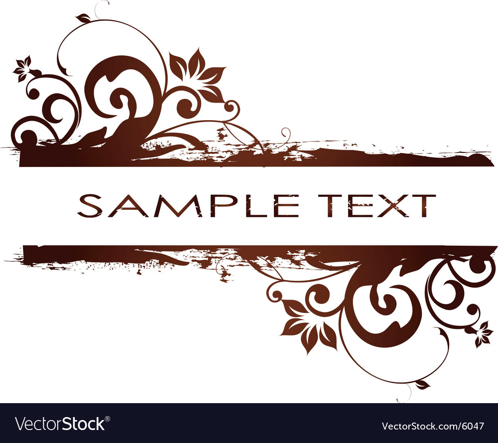 Simple floral banner vector image