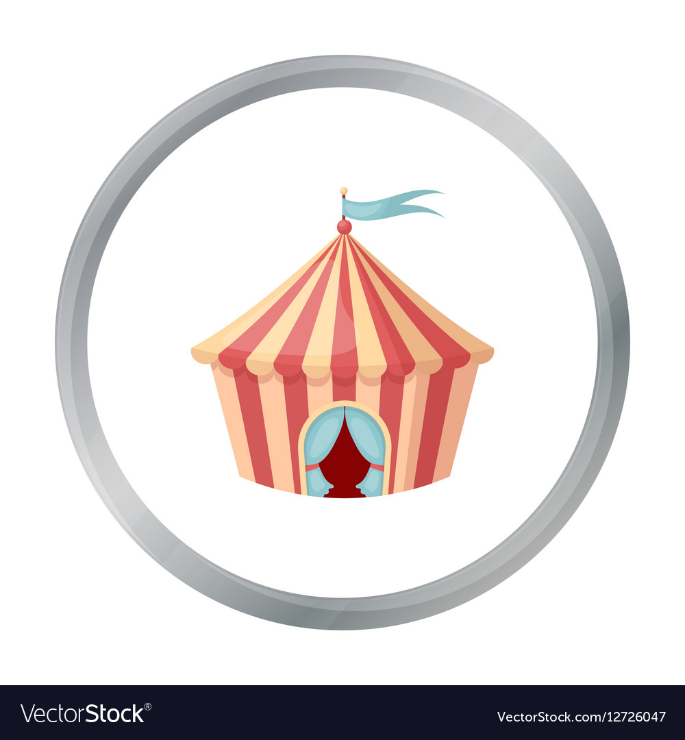 Circus tent icon in cartoon style isolated on vector image  sc 1 st  VectorStock & Circus tent icon in cartoon style isolated on Vector Image