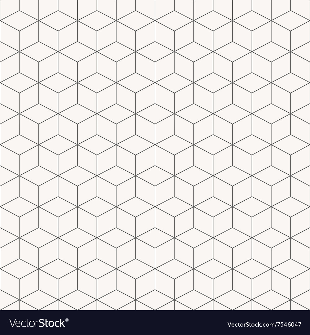 Geometric cubes pattern seamless vector image