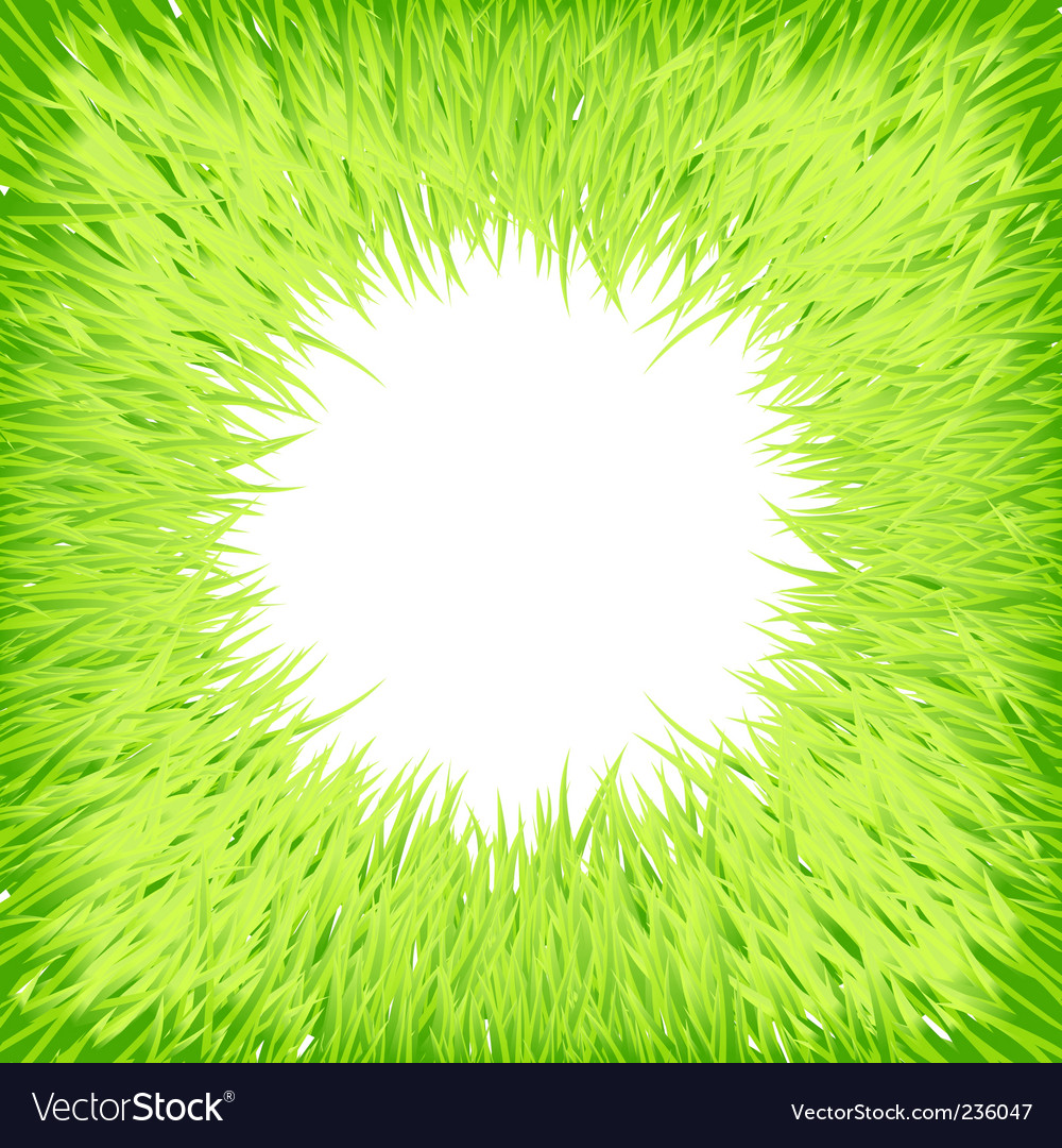 Grass round frame vector image