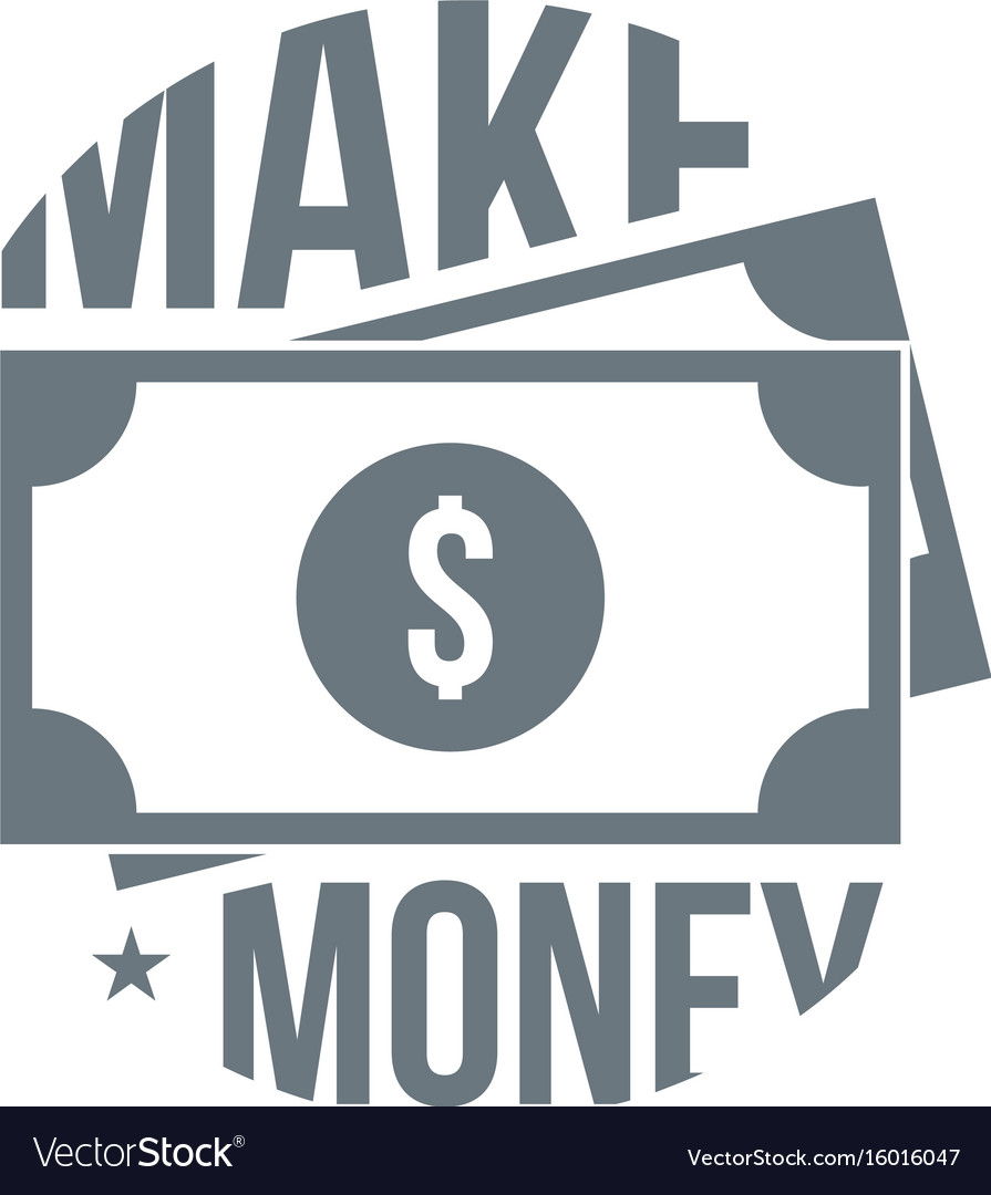 Make money logo simple style vector image