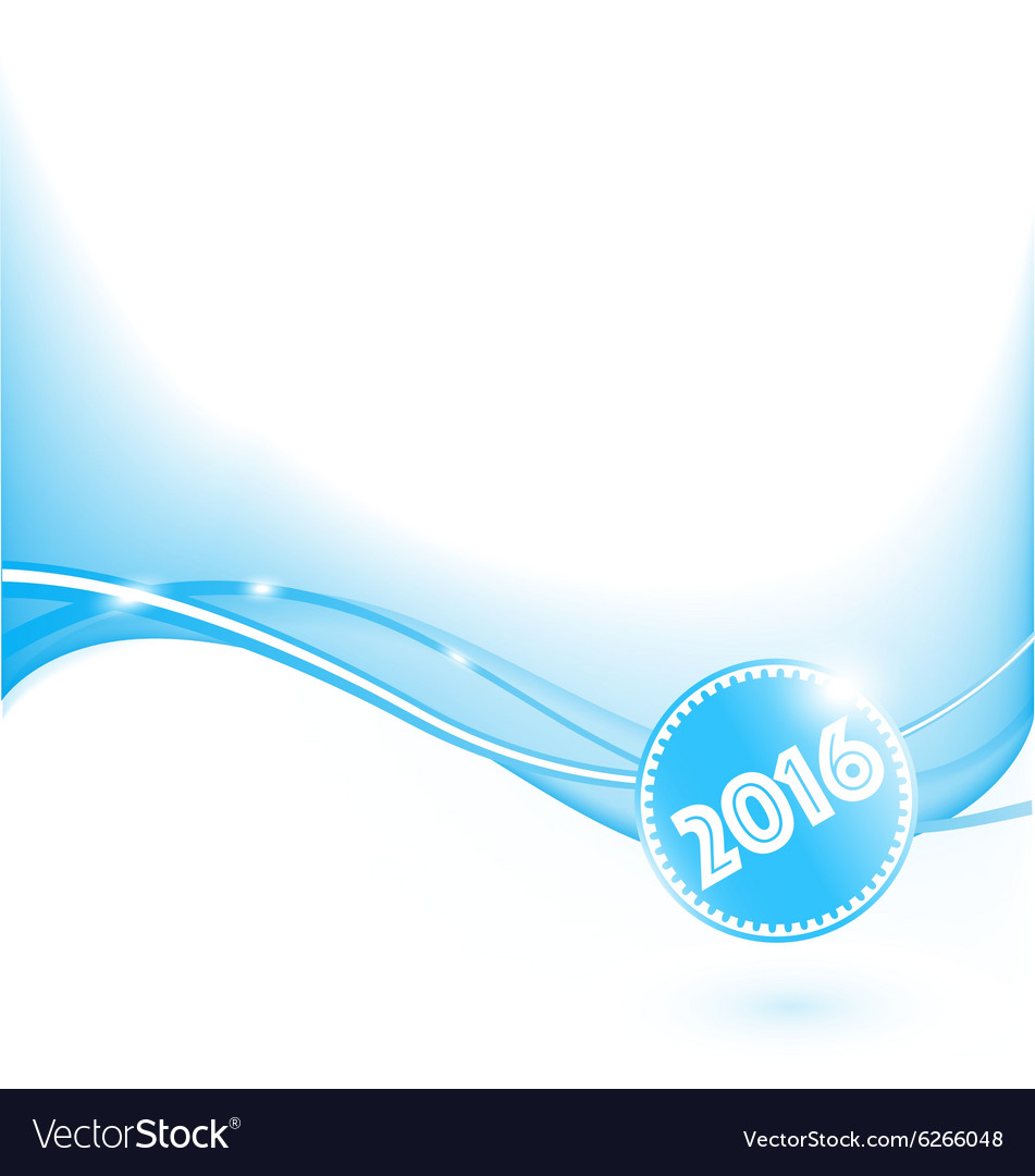 Abstract blue wave 2016 vector image