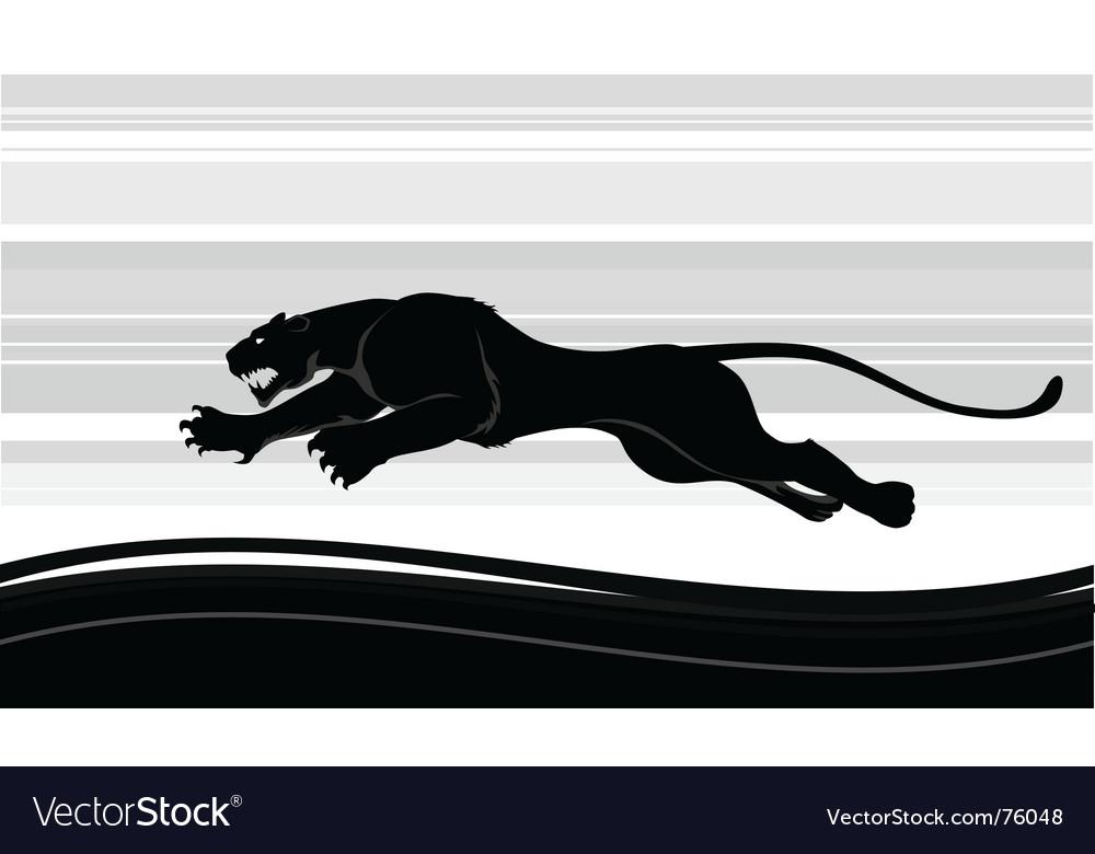 Predator run vector image
