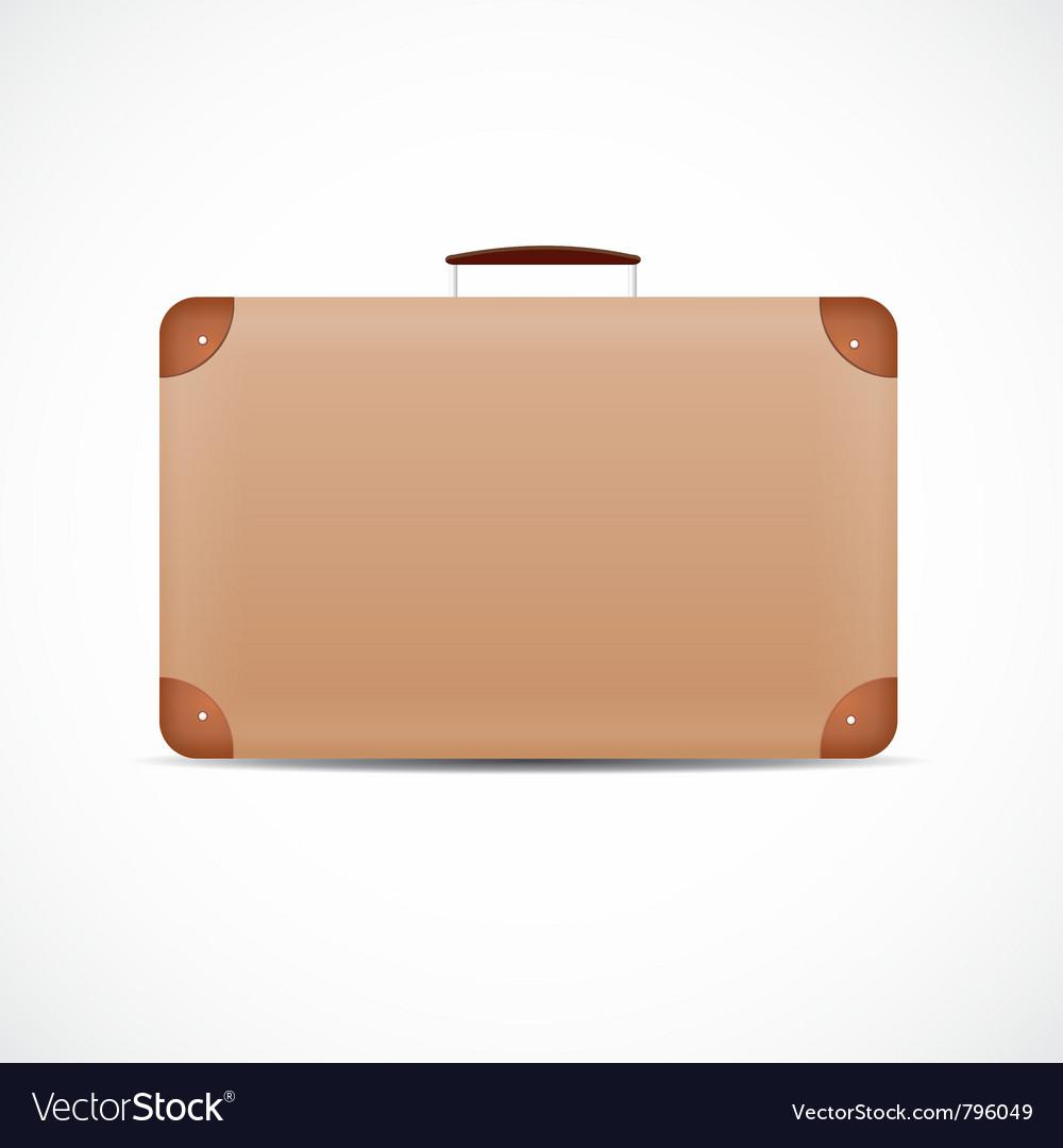 Vintage brown suitcase vector image