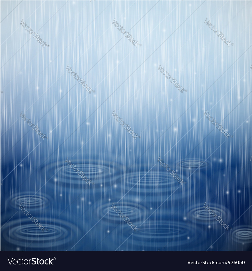 A rainy day vector image