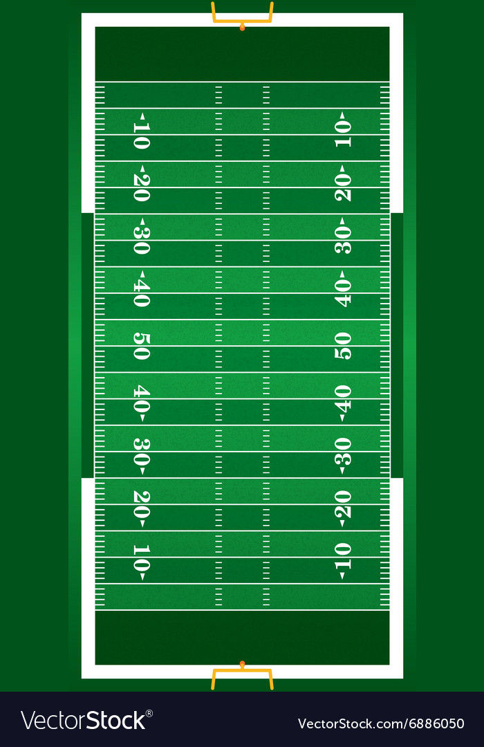 Realistic American Football Field vector image
