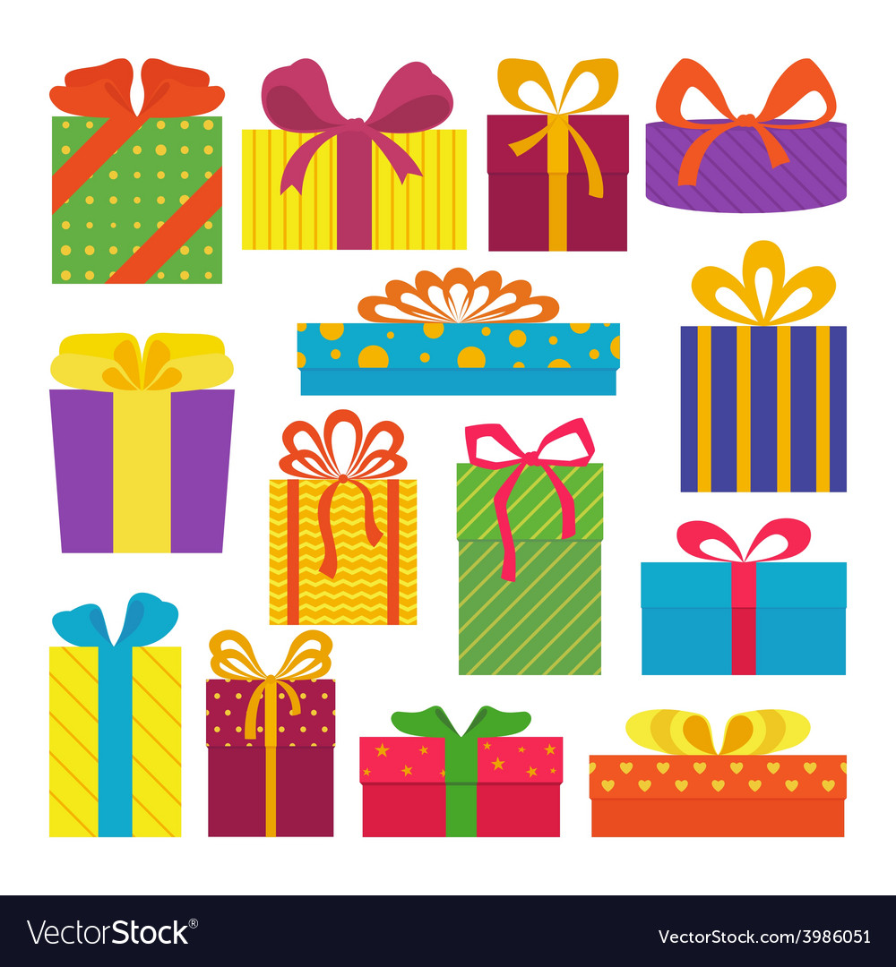 Set of gifts vector image