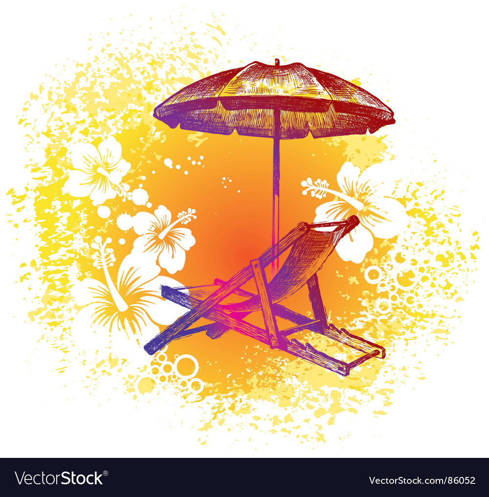 Summer lounge vector image