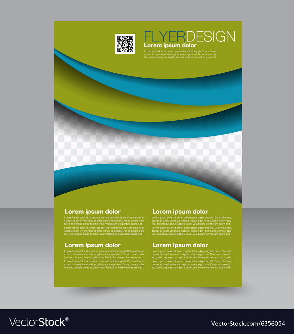 Brochure Template Business Flyer Editable A Vector Image - Editable brochure templates