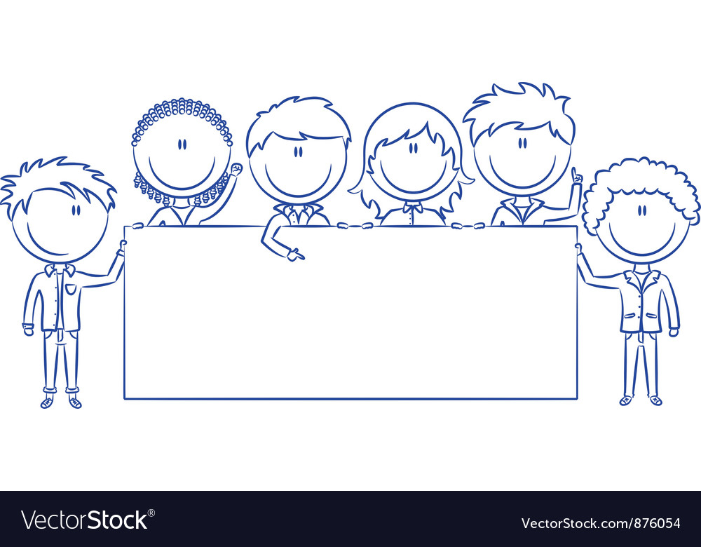 Cute multiethnic kids vector image