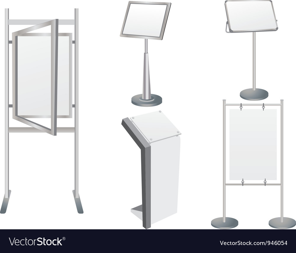 Exhibition Stand Vector Free Download : Promotion display stand royalty free vector image