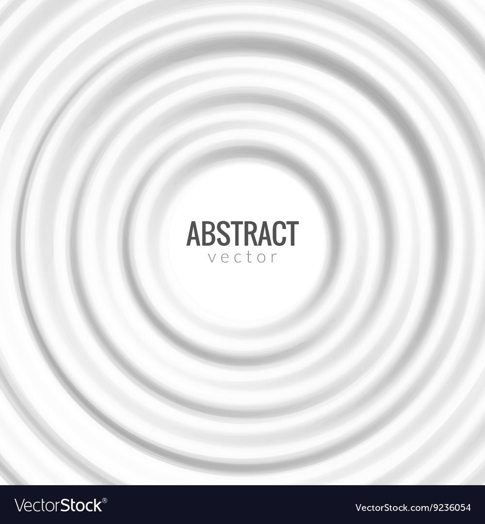 White rippled rounf background Design for banner vector image