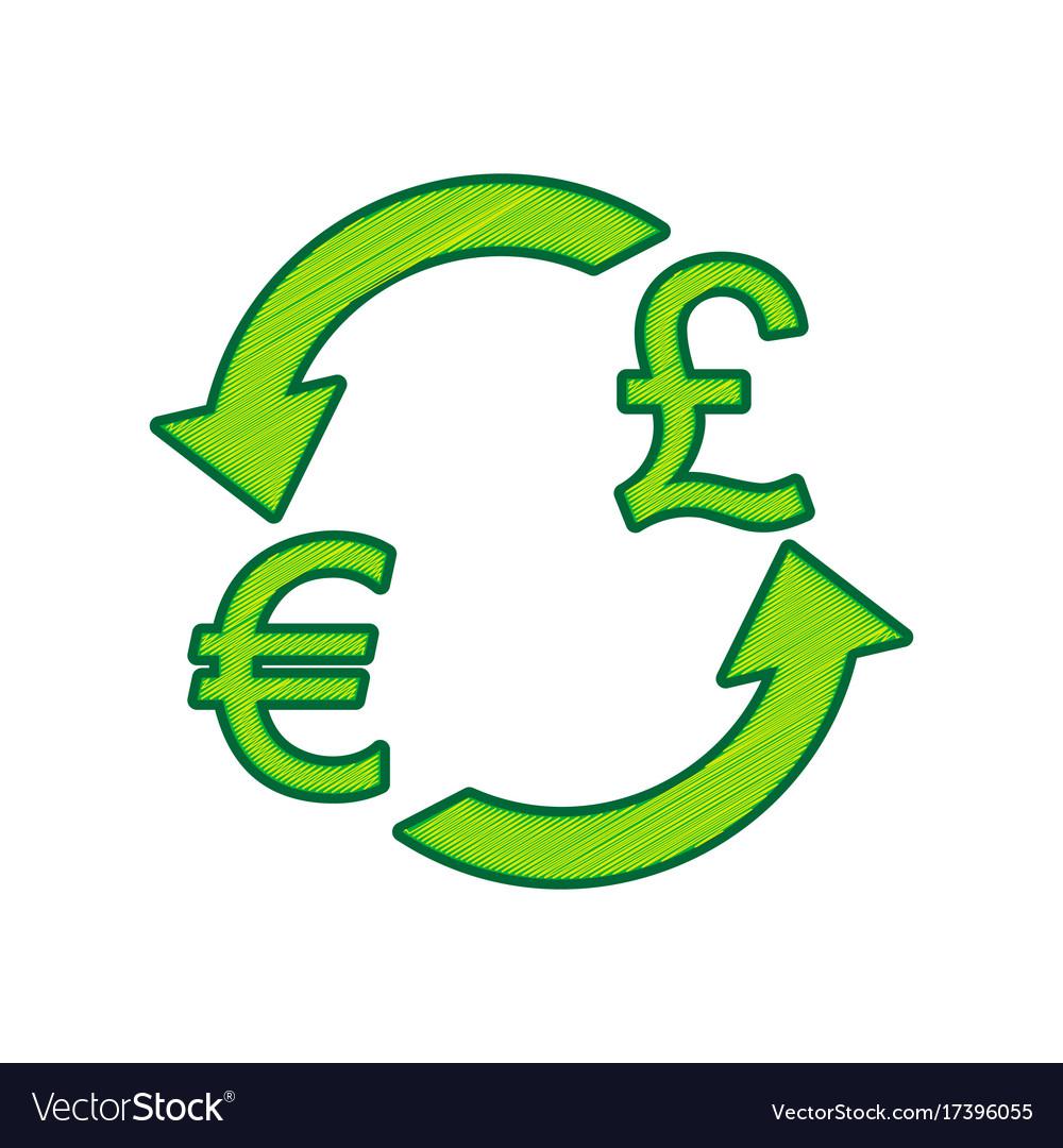Currency exchange sign euro and uk pound vector image currency exchange sign euro and uk pound vector image buycottarizona